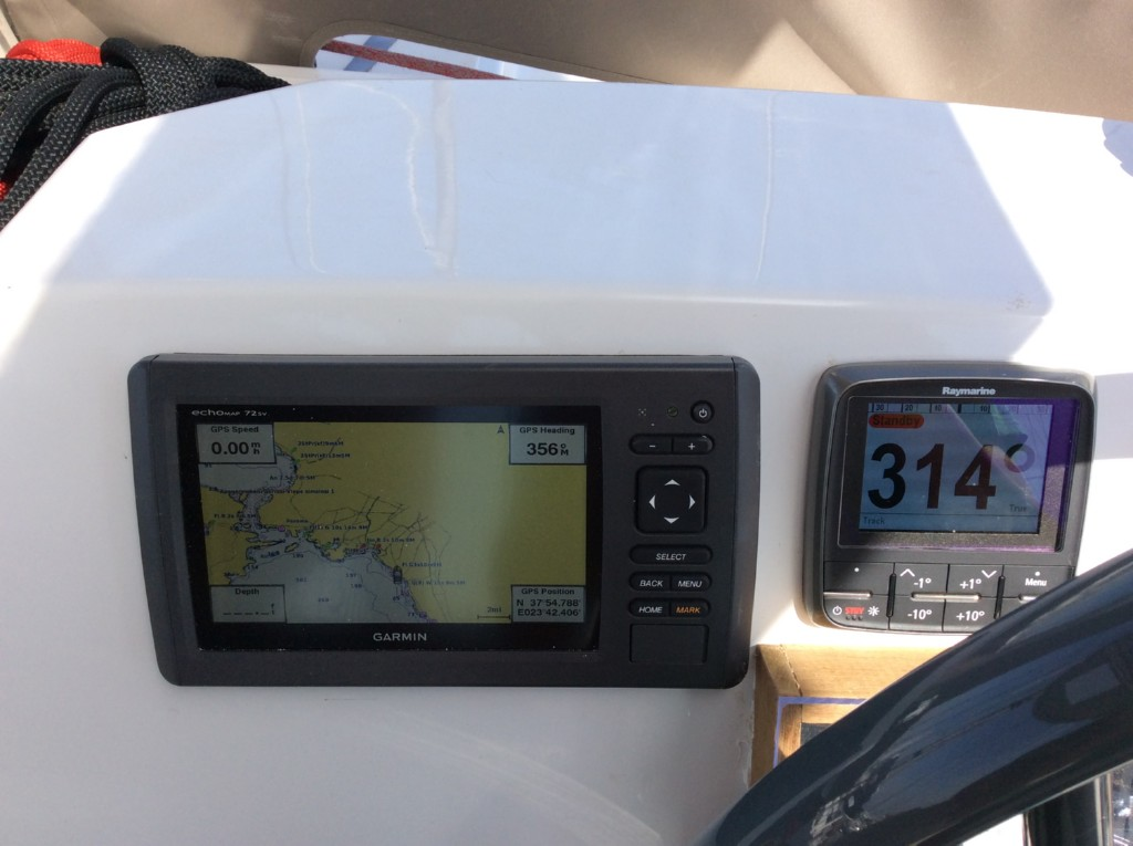 Cockpit gps plotter, sounder,log speed,anemometer,winder,
