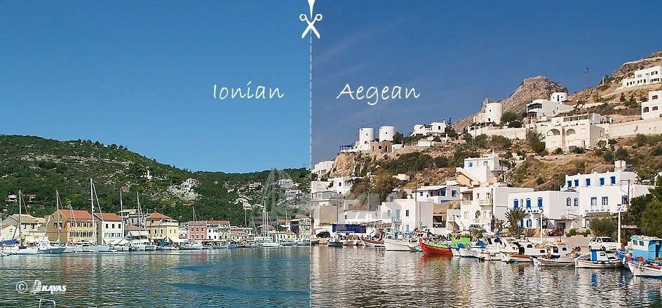 The Ionian and Aegean – two very different seas