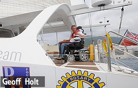 Geoff Holt sailing disabled