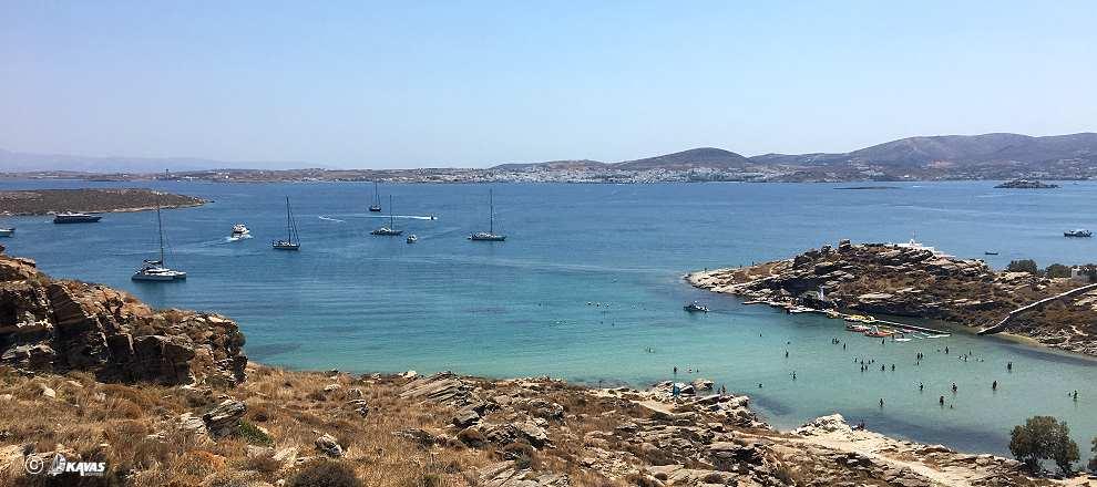 Paros  Naousa anchoring
