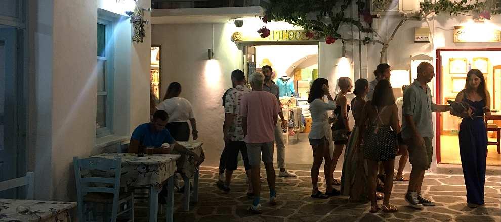Paros Naousa at night