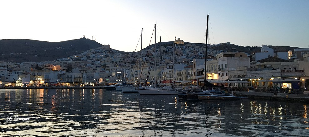 Syros island - Ermoupolis - the port