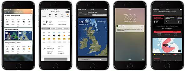 UK met weather apps