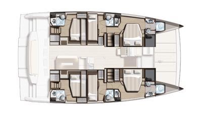 bali catamaran 481 layout